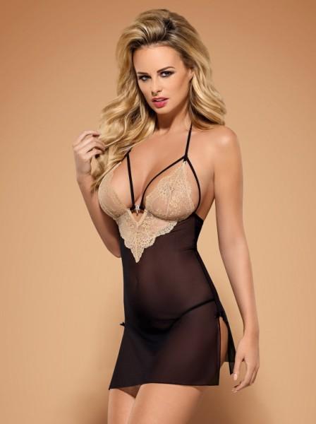 Kosilka Obsessive Bisquella chemise 2 black