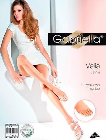 Punčochy s otevřenou spičkou Gabriella Velia 336