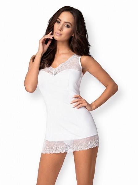 Košilka Obsessive Miamor chemise white