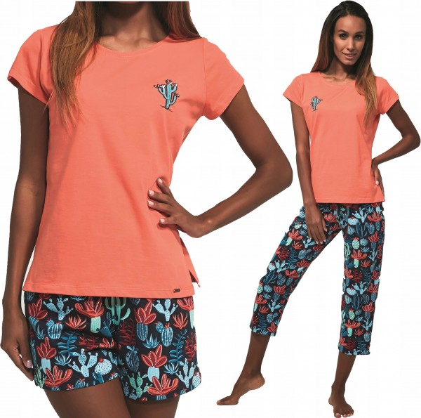 Dámské pyžamo Cactus 3v1 665/173
